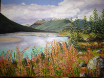 """""Rocky Mountain River for Trevor"""" by Joanne Unruh"